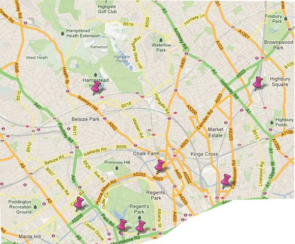 London Guide To Outer London Things To Do - Map of north london areas