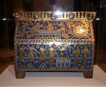 Becket casket at the Victoria and Albert Museum London