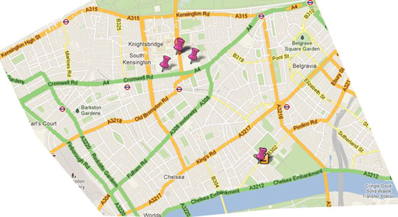 Sightseeing Map Of London.Kensington London Guide Free Sightseeing Map And Guide