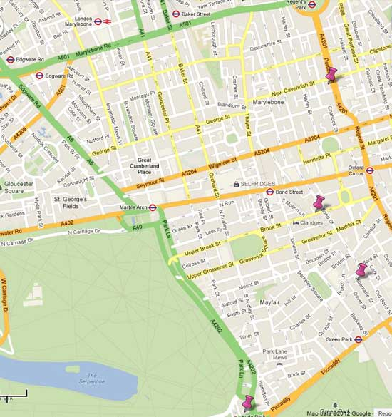Mayfair London Guide Free Sightseeing Map and Guide