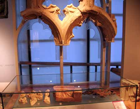 medieval stone window museum of London