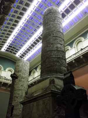 Pillars at the V and A museum