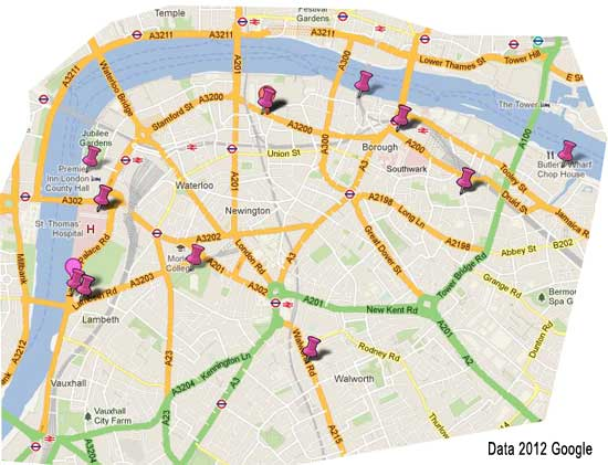 Visitors Map Of London.South Bank London Guide Free Sightseeing Guide For Visitors