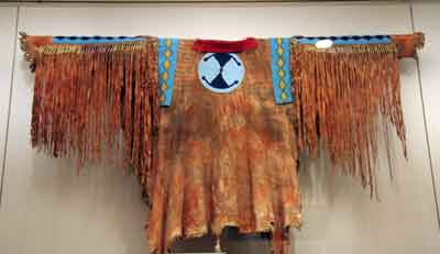 Amrican Indian Skin Clothes at the british museum
